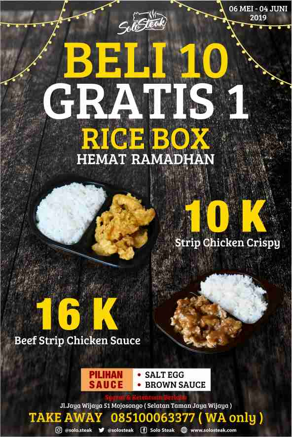 Rice Box Hemat Ramadhan bareng Solo Steak